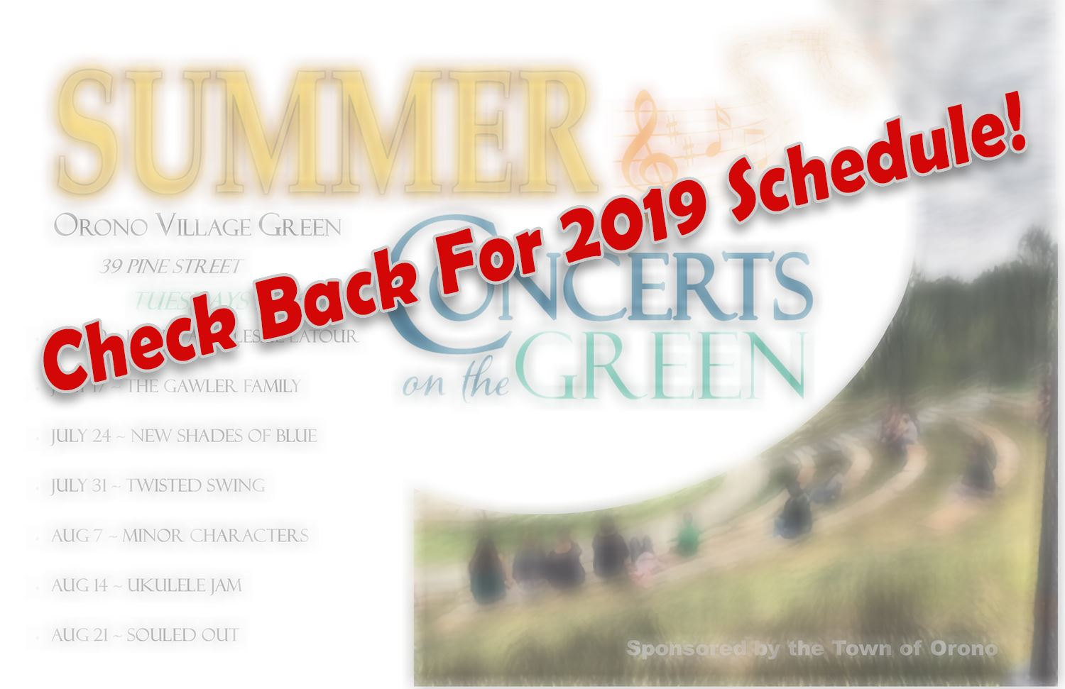 summer concerts on the green 2019 schedule TBA