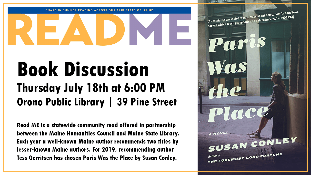 July 18th 6pm book discussion Paris Was The Place