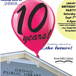 Library 10th Birthday Party 9/7 4PM