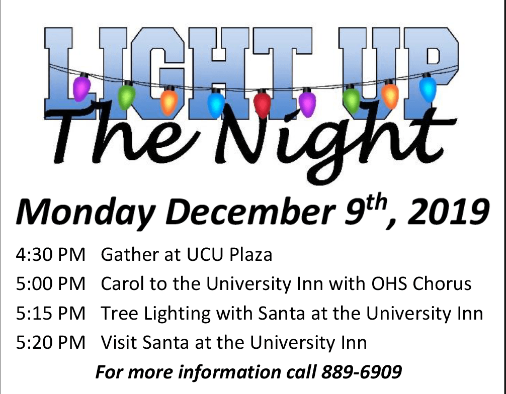 Light up the night 12/09 4:30PM at University Credit Union