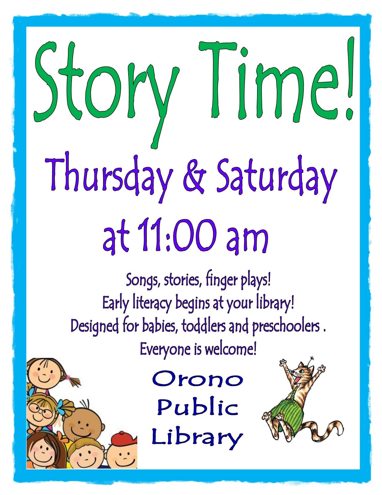 Weekly Story Times 2020
