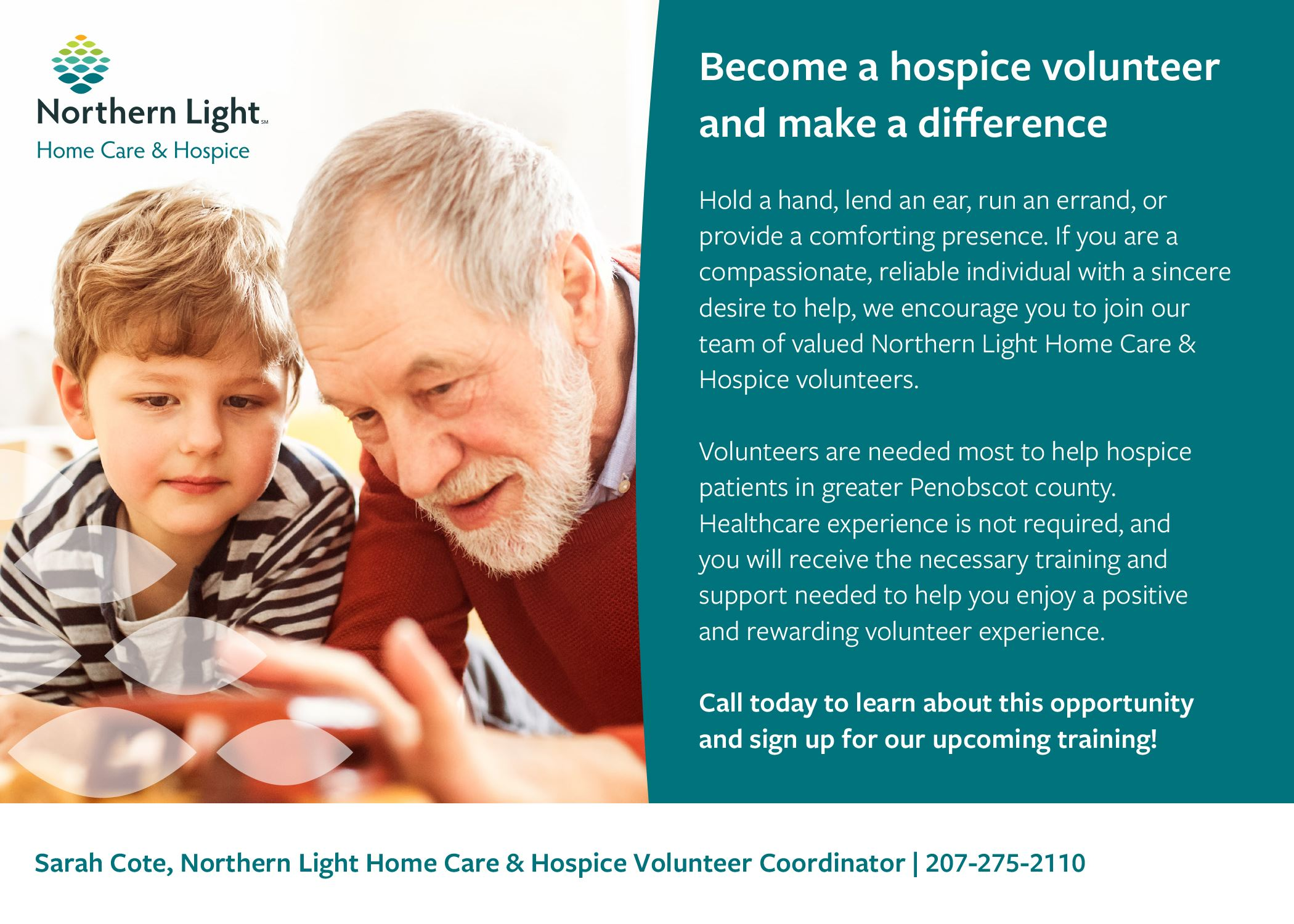 Home Care and Hospice Volunteer Postcard