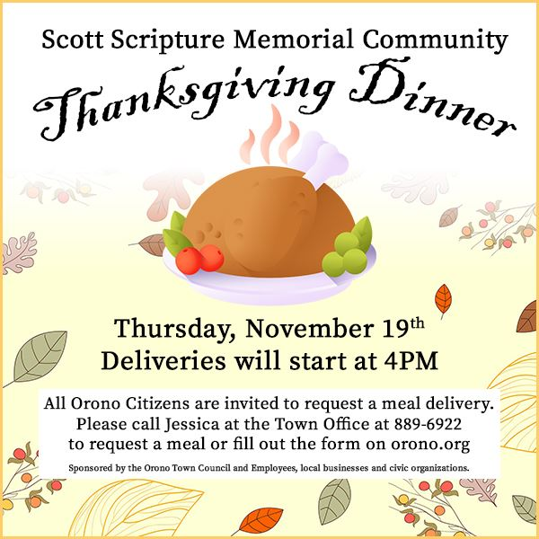 community thanksgiving dinner announcement